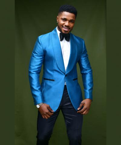 Royal Blue Taffeta Shawl Lapel Tuxedo Suit