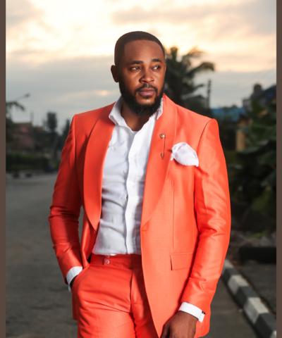 Vibrant Tangerine Mne's Suit