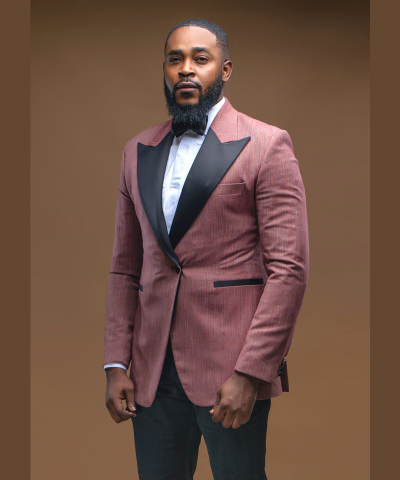 Mauve Peak Lapel Wedding Suit